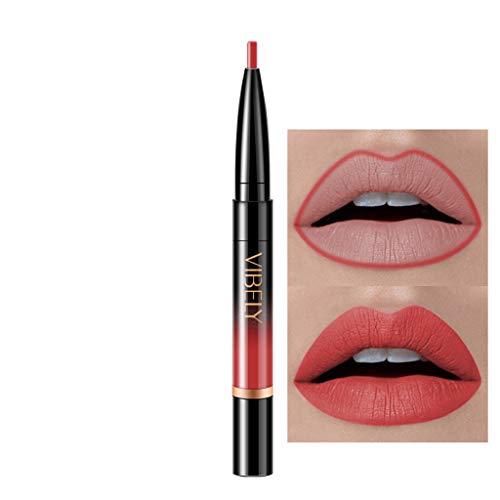 Innerternet Set De CosméTiques De Maquillage De Longue DuréE ImperméAble Crayon-Crayon à LèVres éTanche Double Boutonnage Lipliner ImperméAble 16 Couleurs (B-1)