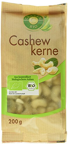 Preisvergleich Produktbild Clasen Bio Cashewkerne,  2er Pack (2 x 200 g)