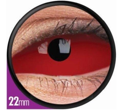 1 Paar Sclera CYCLOP Kontaktlinsen linsen farbige rot -