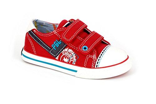 Pablosky 932660, Chaussures avec Velcro Mixte Enfant Rouge