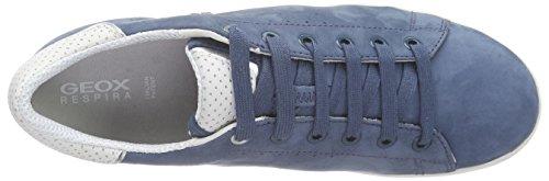 Geox D Jaysen A, Baskets Basses Femme Bleu (C4008)