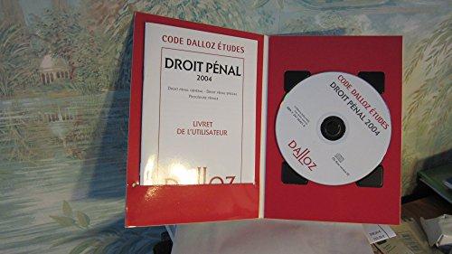 Code Dalloz études / Droit pénal 2004 - livret d'utilisation + 1 CD-ROM