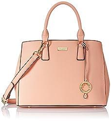 Cathy London Women's Handbag, Colour- Peach, Material- Synthetic Leather