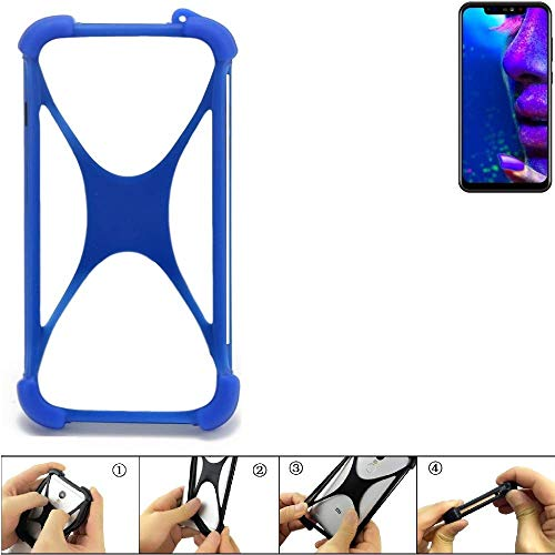 K-S-Trade Handyhülle für Allview Soul X5 Pro Silikon Schutz Hülle Cover Case Bumper Silikoncase TPU Softcase Schutzhülle Smartphone Stoßschutz, blau (1x)