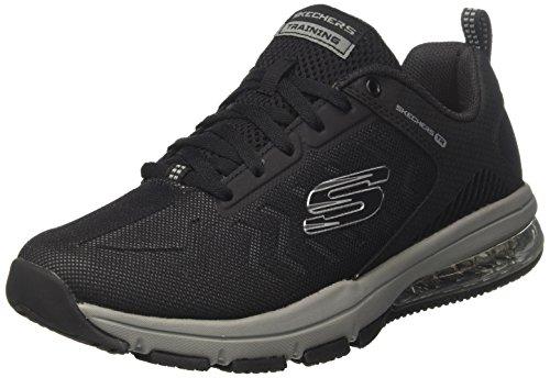 Skechers Skech-Air Degree, Zapatillas para Hombre, Negro (Black/Grey), 44 EU