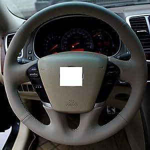 Gris Cuir véritable Housse de volant pour Nissan Murano Teana
