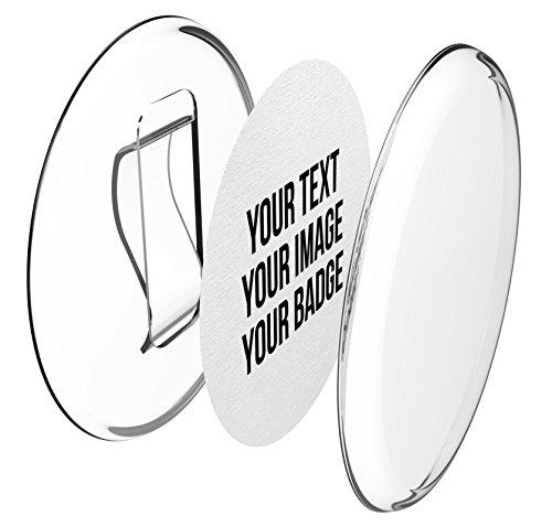 Clip-Buttons 56mm selber machen ohne Buttonmaschine (50 Stück) - Ansteckbuttons Set mit A4-Buttonpapier