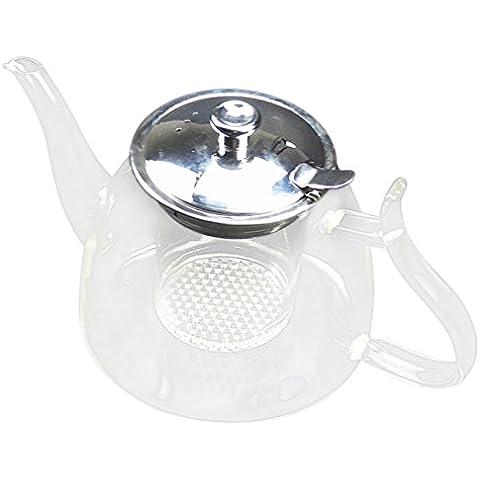 De café de cristal de la tetera china Blooming teteras de vidrio a prueba de calor vaso de té con filtro de cristal Ollas