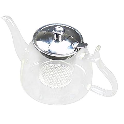 Café Théière en verre Blooming chinois verre théières chaleur thé Résistant verre Pots avec filtre en verre