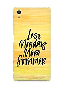 AMEZ less monday more summer Back Cover For Sony Xperia Z5