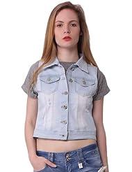 Miss Coquines - Veste en jean sans manches - Femme - Vestes