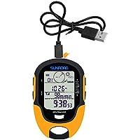 Lepeuxi Multifunktions LCD Digital GPS Höhenmesser Barometer Kompass Tragbare Outdoor Camping Wandern Klettern Höhenmesser mit Led-Taschenlampe