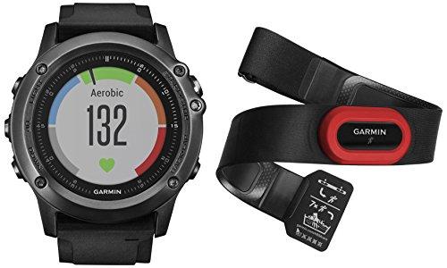 Garmin Fenix 3 Sapphire HR Performer Bundle Smartwatch GPS, Nero/Grigio