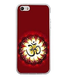 PrintVisa Designer Back Case Cover for Apple iPhone 4S (Religious Om Swastik Symbol Shiv Bhagwan Spritual)