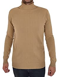 Hommes Brave Soul Hume Designer Entonnoir Haut Col Roulé Coton Pull Tricot