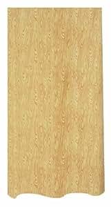 Spirella Wood Caramel Rideau de douche Polyester Effet bois Crème/marron 240 x 180 cm