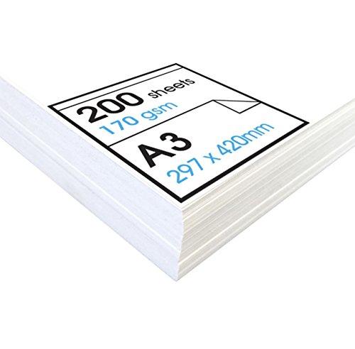 Artway Studio - Zeichenpapier für Trockene Zeichen- und Maltechniken - säurefrei - Lose Blätter - 170 g/m² - A3 (200 Blatt)