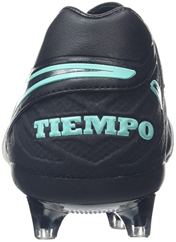 Nike Tiempo Legacy Ii Ag-Pro, Chaussures de Football Homme Noir (Black/Black/Hyper Turquoise)