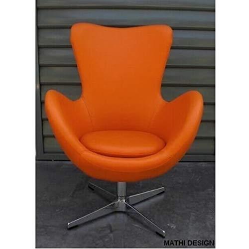 MATHI DESIGN Fauteuil Cocoon Simili Cuir Orange