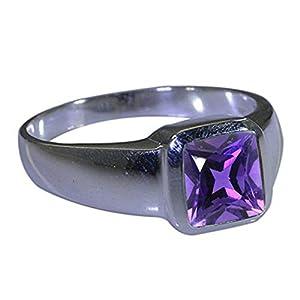 Gemsyogi Herren-Ring Sterling-Silber 925 natürlicher Edelstein handgefertigt Größen H bis Z