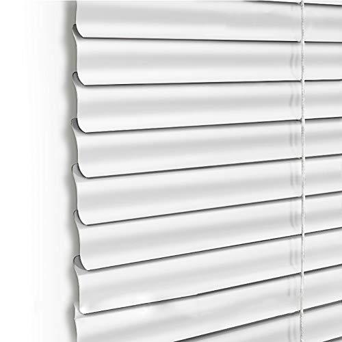Veneziana Tende Avvolgibili con Filo A S Tenda A Rullo Tenda Oscurante Orizzontale, Oscuramento A 90 °, Multi-Formato, Bianco (Dimensioni : 60x160cm)