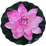 YFZYT Künstliche Lebensechte Lotus Künstliche Pflanzen Blumen Schwimmende Teich Pflanzen Gefälschte Lotus für Inneneinrichtungen Garten Dekor - 2 Stücke, 28 cm, Rosa