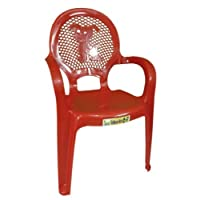 Dog Design Red Stackable Kids Children Plastic Chair Home Picnic Party Up To 30kg