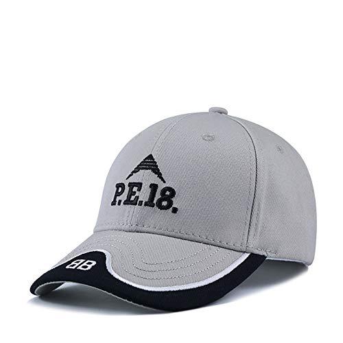 sdssup Sombrero de ala Plana Bordado Versión Coreana de la Gorra de béisbol Gorra Pescador Hip-Hop Hip-Hop Sombrero Rojo L (58-60cm)