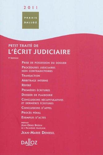 Petit traité de l'écrit judiciaire par Jean-Marie Denieul
