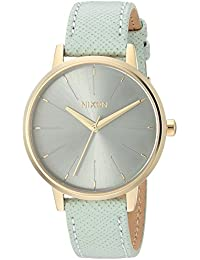 Nixon Women's Kensington Leather Watch, 33mm, Light Gold/Agave, One Size