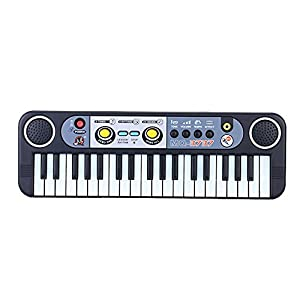 Andoer®37 Keys Multifunctional Mini Electronic Keyboard Music Toy with Microphone Educational Electone Gift for Children Kids Babies Beginners