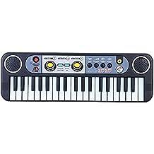 Juguete de la Música de 37 Teclas Multifunción Mini Teclado Electrónico con Micrófono Electone Regalo para Niños Principiantes