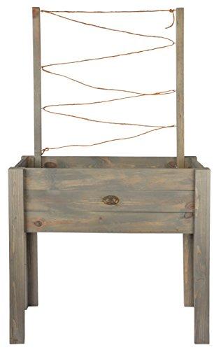 Esschert Design Pflanzkasten mit Rankhilfe, 82 x 43 x 144 cm, auf Beinen, Standbeine, Pflanzbox, Holzbox, Blumenkasten