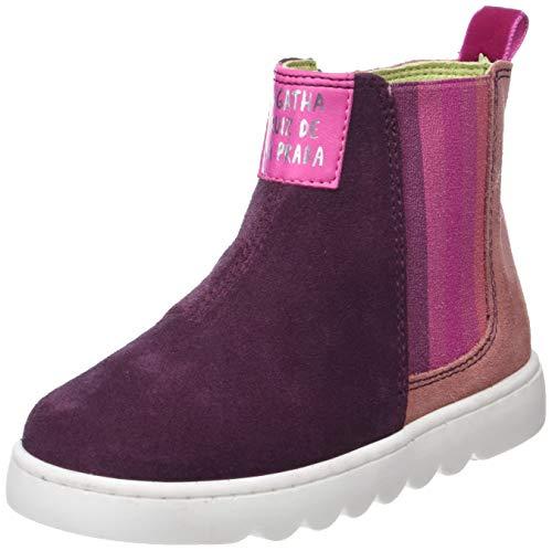 0393e97f00 Agatha Ruiz De La Prada Mädchen 181952 Kurzschaft Stiefel, Pink  (Vino/Carmin)