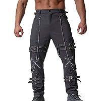 827b0a4876e01 Bolsillos Laterales Pantalones Pantalones de chándal con Cadena de Hip Hop  para Hombres Pantalones de chándal