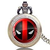 Cool Taschenuhr, American Comic Badass Deadpool Taschenuhr für Männer Frauen, Cartoon Taschenuhr Geschenk