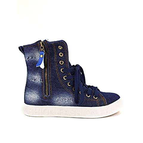 Cendriyon, Baskets montantes Blue jeans BELLO Chaussures Femme Taille 36