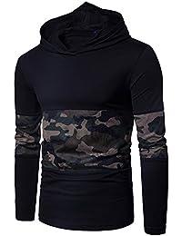 118ab91ab Felpa con Cappuccio Uomo LandFox Felpa Pullover Hoodie Hooded Giacca Manica  Lunga Lettera Inverno Autunno Moda