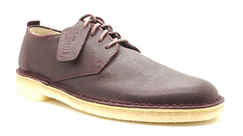 Clarks Wüste London Oxford Schuh Wine Leather