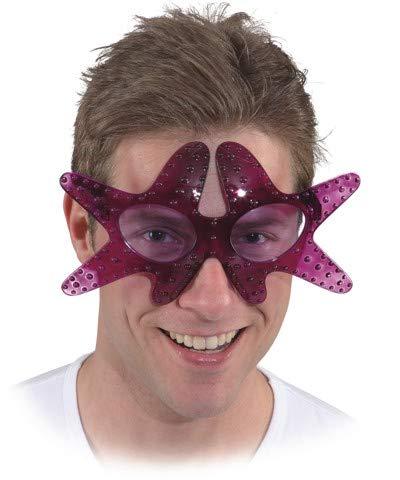 Meer Hexe Kostüm - Brille Seestern, Farbe:lila