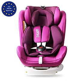 LETTAS Seggiolino auto gruppo 0+1/2/3 Fascia d'età: Bambini da 0 mesi a 12 anni - da 0 a 36 kg,reclinabile 4 posizioni…