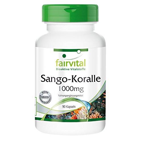 Sango Koralle 1000 mg 340 mg Kalzium 90 vegetarische Kapseln - Reinsubstanz