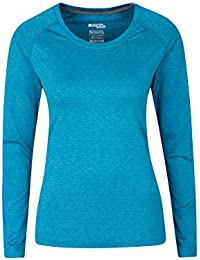 Mountain Warehouse Panna Womens Long Sleeved Top - UV Protected, Quick Drying, Lightweight & Breathable - Ideal for Travelling, Walking, Gym or Running