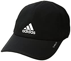 adidas Mens Superlite Relaxed Performance Cap, Black/White, One Size