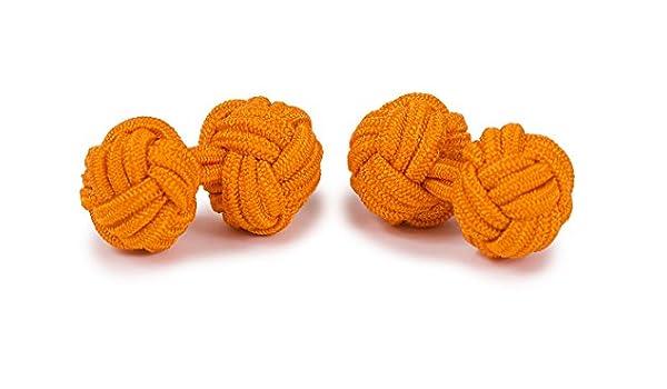 Orange Boutons De Manchette Passementerie Ronds Sologemelos Hommes Taille Unique