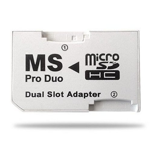 Demarkt Adaptador SDHC A MS Pro Duo Dual Slot PSP