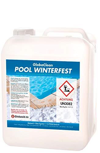 GlobaClean® Überwinterungskonzentrat 3L Pool Wintermittel schaumfrei Überwinterungsmittel für Swimmingpool Winterschutzmittel Schwimmbadpflege Winterkonservierer für Schwimmbecken