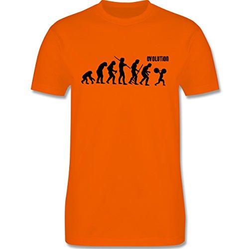 Evolution - Gewichtheber Evolution - Herren Premium T-Shirt Orange