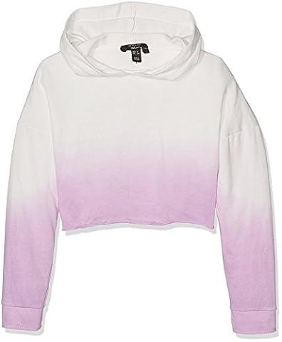 New Look 915 Dip Dye, Sweat-Shirt à Capuche Fille, Violet (Lilas), 14-15 Ans
