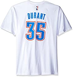 NBA Oklahoma City Thunder Kevin Durant #35 Men's 7 Series Name & Number Short Sleeve Tee, X-Large, White